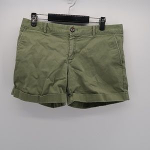 Banana Republic Green City Chino Shorts Cuffed Hem
